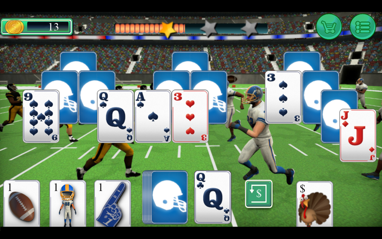 Touch Down Football Solitaire Tri Peaks