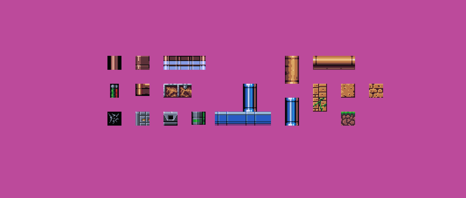 Pixelart Tiles referenced from Xenon 2 and Wolfchild