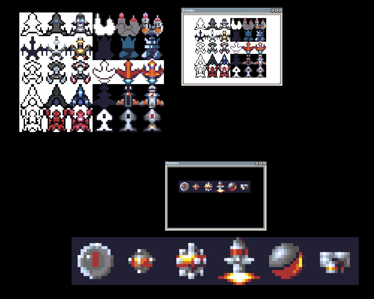 Sprites - Spaceships and Xenon 2 icon sprites