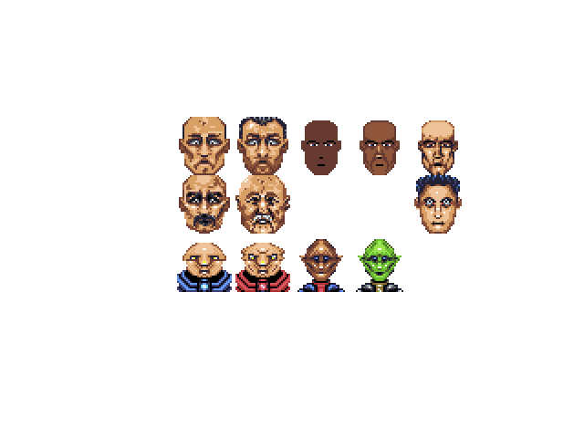 Several 32x32px portraits