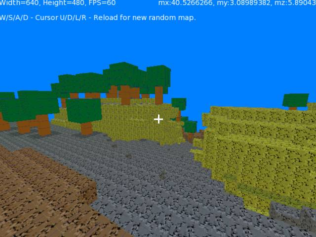 Monkey2Craft(Voxel world) Early build (trees added)