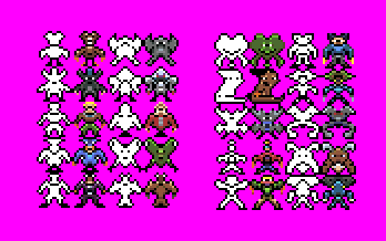 Various Pixeled Characters 16x16px