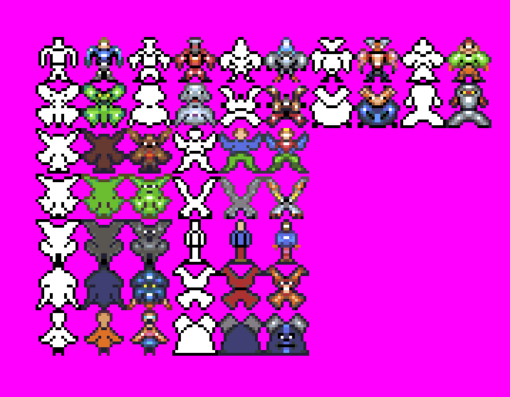 Monsters and (animal)people sprite sheet