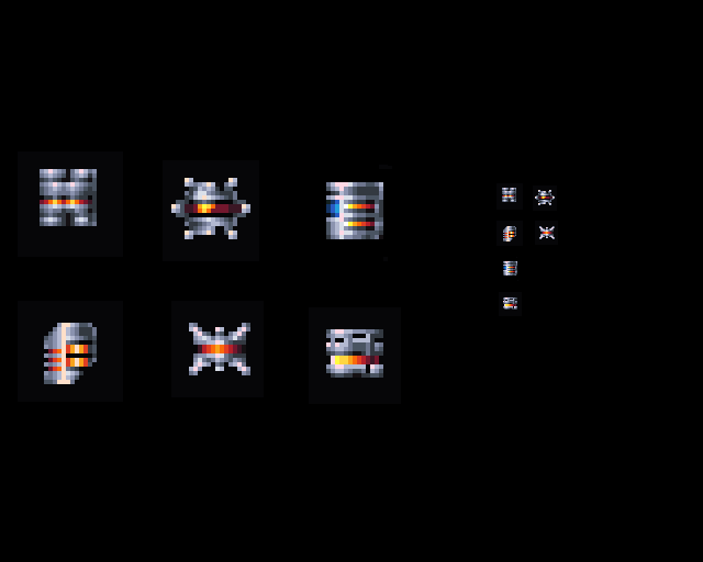 Pixelart - Space engine icons