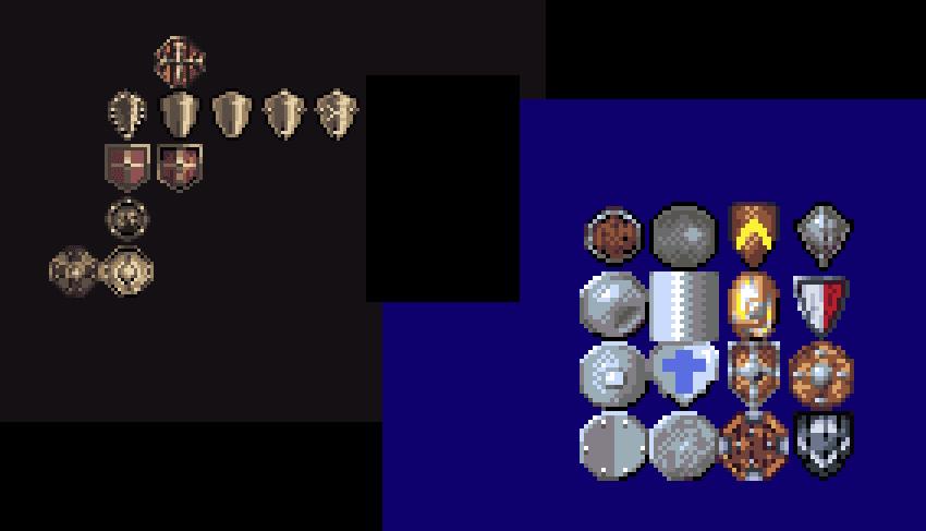 Shields sheets pixelart