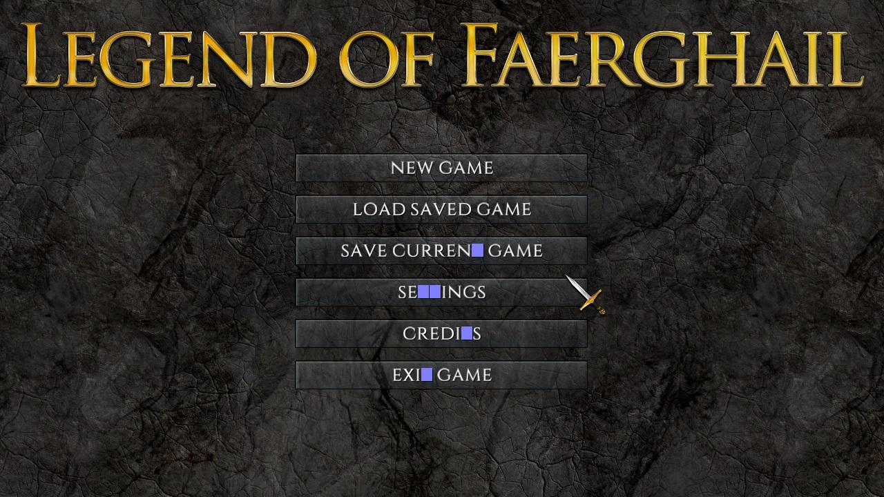 Legend of Faeghail - text bug