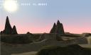 Sunset on terrain